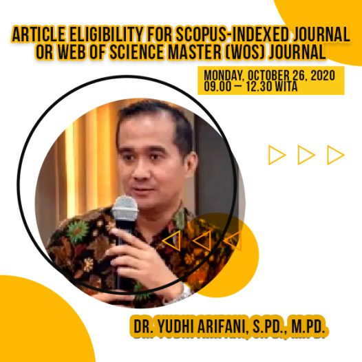 ARTICLE ELIGIBILITY FOR SCOPUS-INDEXED JOURNAL OR WEB OF SCIENCE MASTER (WOS) JOURNAL